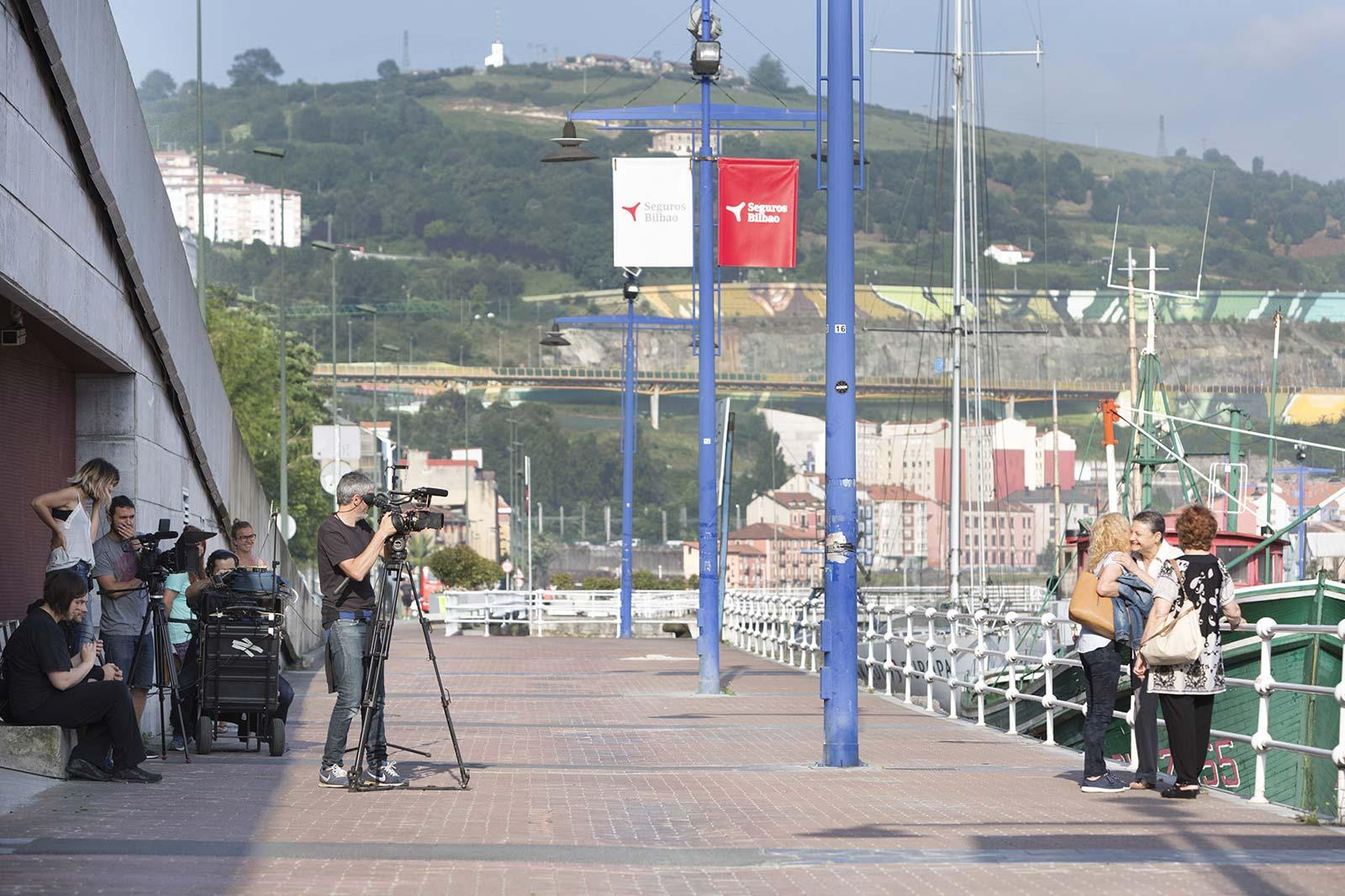 "Rodaje del documental ""Nosotras, mujeres del euskalduna"""